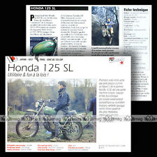 HONDA SL 125 1972 Trail Bike - Fiche Moto Motorrad Motorcycle Card MRC
