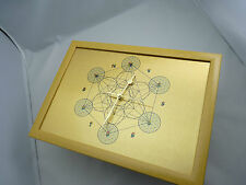 Metatron's Cube Wall Clock, Flower of Life within Outer Spheres, Silent non-tick