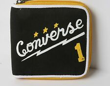 Converse Zipped Out Wallet (Black Yellow)