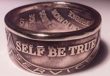 Size 9-15 sobriety serenity prayer ring handmade from bronze aa recovery token