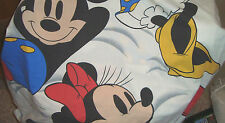 Minnie & Mickey Mouse Twin FLAT Sheet For Bed Material,Crafting,Fabric Sheets