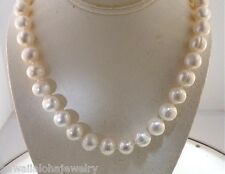 """11.5MM-12.5MM GRADUATED CULTURED FRESHWATER WHITE MIXED PEARL NECKLACE 21.75"""""""