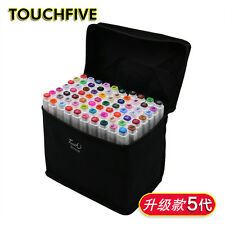 60 Color Touch Five Art Sketch Twin Marker Pens Broad Fine Point Alcohol Graphic