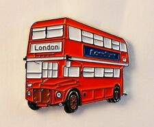 Red London Bus Enamel & Metal Lapel / Pin Badge - 24mm BRAND NEW