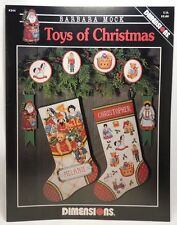 Toys Of Christmas Cross Stitch Patten Leaflet Stockings Ornaments Dimensions 244
