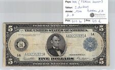 USA - 5 DOLLARS 1914 BOSTON 1A AA  FEDERAL RESERVE