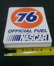 "Lot of 100 Vintage 5"" x 6.25"" 76 OFFICIAL FUEL OF NASCAR Racing Stickers Decals"