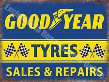 Vintage Garage, 68 Goodyear Tyres Racing, Car Motorcycle, Small Metal/Tin Sign