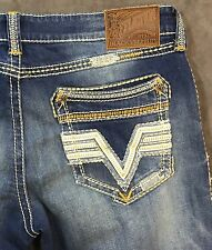 NEW AFFLICTION JEANS $125 ACE STRAIGHT JEANS IN INCLINE LINDEN SZ 34