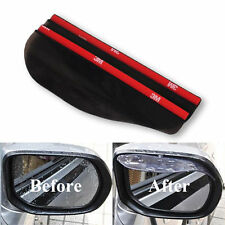 Universal Rear View Black Mirror Rain/Snow Shield For Car/Truck (2 Pieces)