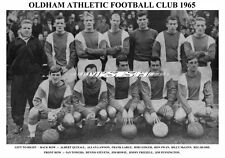 OLDHAM ATHLETIC F.C.TEAM PRINT 1965 ( LARGE / FRIZZELL / STEVENS / QUIXALL )