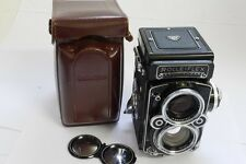 Rolleiflex 2.8F Type 2 TLR, Metered with Carl Zeiss 80mm f2.8 Planar lens + case