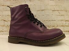 Vintage 1970s Made in England Dr Martens Purple Leather 8 Hole Boots Size 10