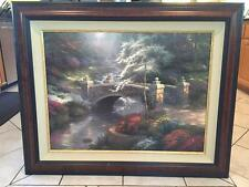 "25.5""x34"" Limited Edition Oil Painting - ""Bridge of Hope"" by Thomas Kinkade ("