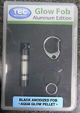 Tec Accessories A3 A3-C Aluminum Framed Hardened Anodized Black Aqua Glow Fob
