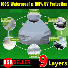 9 Layer 3XL PEVA Car Cover Cotton Lining Waterproof Resistace Sun Ice Protection