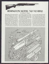 REMINGTON Model 740, 742 Rifle Exploded View Parts List 2-pg Assembly Article