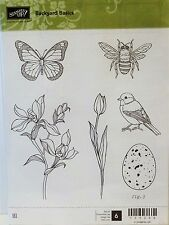 Stampin Up BACKYARD BASICS clear mount stamps butterfly bird egg