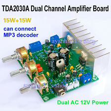 Dual AC 12V TDA2030A Amplifier Board HI-FI 2.0 Two Dual Channel 15W+15W LM1875