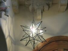 """Moravian Star -18"""" clear  glass  18 point"""