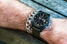 Parnis PVD pilot/aviator chronograph quartz mens watch. UK Seller, Expr deliv!