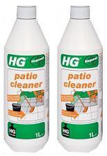 2 x HG Patio Cleaner 1L Concrete Tiles Brick Garden Coloured Paving Slabs Gravel