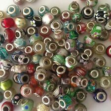 45 MURANO GLASS EUROPEAN BEADS FITS MOST EUROPEAN BRACELETS