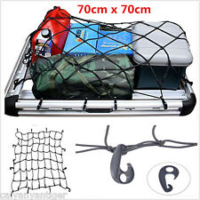 Car SUV Elastic Bungee Cargo Net Carrier Roof Rack Basket Stretch+ Hooks 70*70cm