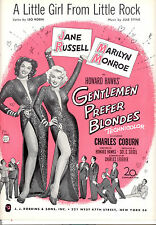 "GENTLEMEN PREFER BLONDES ""A Little Girl From Little Rock"" Marilyn Monroe"