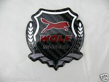 Wolf Ford Motorcraft Real Carbon Fiber Auto Badge Shield emblem