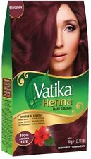 Dabur Vatika Burgundy Henna Hair Color Powder NO AMMONIA Free Brush & Glove