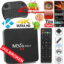 JAILBROKEN ANDROID OTT TV STREAMING BOX LOADED 4K W/ TOUCHPAD KEYBOARD FREE HD