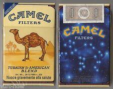 CAMEL FILTERS cigarette Italy empty pack ANNIVERSARY 1993 #1 Ogni anno il fumo..
