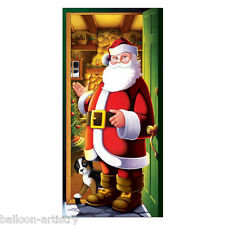 1.5m Merry Christmas Cheerful Santa Welcome Door Poster Banner Decoration BA