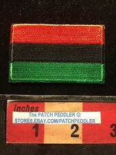 PAN-AFRICAN AFRICA FLAG PATCH UNIA AFRO-AMERICAN BLACK LIBERATION Tri-Color 64KK