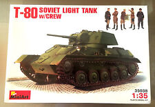 MINIART 35038 - 1/35 T-80 SOVIET LIGHT TANK w/CREW - NUOVO