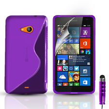S-Line Silicone Gel Case Cover For Nokia Lumia 535 & FREE Screen Protector