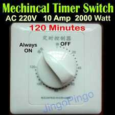 Durable Automatic Timer Switch 120 Minutes 220V AC DC 10A Mechanical Delay Relay