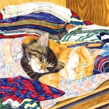 SUNSOUT JIGSAW PUZZLE FRESHLY WASHED ANNE MORTIMER CATS 1000 PCS #35040