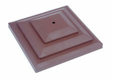 "Linic 10 x Brown 3"" or 75mm Plastic Fence Top Finial Rot Proof UK Made GT0044"