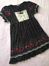 AXES FEMME Lace Rose Black Dot Dress Women's S~M Japan Gyaru Cute Kawaii Bow