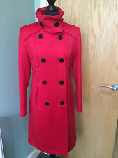 STUNNING ABITALE ITALIAN MADE RED PURE NEW WOOL OCCASION WEAR COAT SZ 42 (10)
