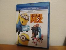 DESPICABLE ME 2 - 2 Disc Blu Ray / DVD - No UV Code - I combine shipping