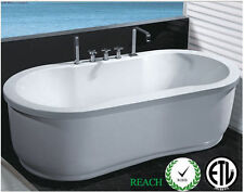 New Freestanding Type Jetted Hydrotherapy Massage Bathtub Whirlpool Tub 110v
