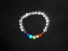Seven Chakra Bracelet With Crystal Quartz