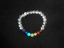 Seven Chakra Stone Bracelet with Crystal quartz