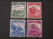 GERMANY, SCOTT # 459-462(4),1935 COMPLETE SET 1935  CENTENARY RAILWAYS ISS USED