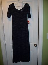 NWT Mossimo Supply Co. Long Casual Dress Size XS/TP Short Sleeve Navy Blue