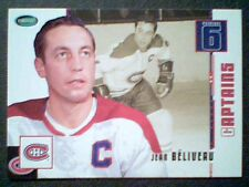 JEAN BELIVEAU   ORIGINAL SIX MONTREAL CANADIENS CAPTAIN HOCKEY LEGEND CARD