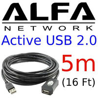 ALFA 5m (16 feet) USB Active Amplifier Extension Cable